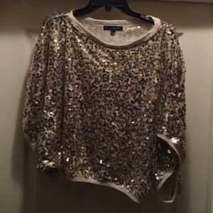 Tops - Winged sleeved formal sequins top